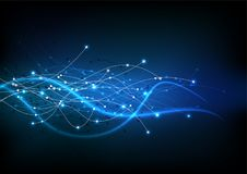 Vector background abstract technology communication data Science Stock Photography