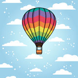 Vector background with air balloon Royalty Free Stock Photo