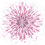Vector background with anniversary bursting fireworks on white Stock Photos