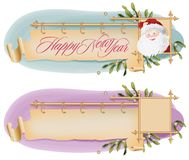 Vector background with antique scroll for Christmas and New year Stock Photo