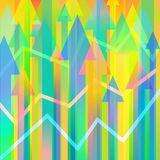 Vector background with arrows Stock Image