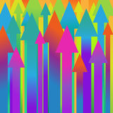 Vector background with arrows Royalty Free Stock Image