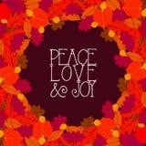 Vector background with autumn decor Royalty Free Stock Photos