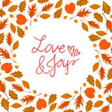 Vector background with autumn decor Royalty Free Stock Image