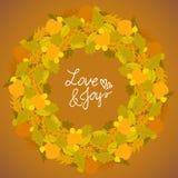 Vector background with autumn decor Stock Photo