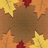 Vector Background With Autumn Leaves And Space For Text Stock Photography