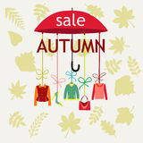 Vector background Autumn Sale. Stock Photography