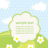 Vector background for baby Stock Photography