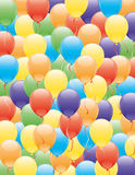 Vector background. Balloons. Stock Images
