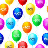 Vector background of balloons with sale discounts Stock Images