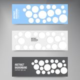 Vector background banner. Circles set color shadow Royalty Free Stock Photography