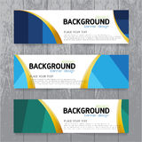 Vector background  banner Collection horizontal business set tem Royalty Free Stock Images