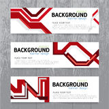 Vector background  banner Collection horizontal business set tem Stock Images