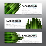Vector background  banner Collection horizontal business set tem Stock Photography