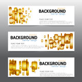 Vector background  banner Collection horizontal business set tem Royalty Free Stock Photos
