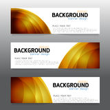 Vector background  banner Collection horizontal business set tem Stock Image