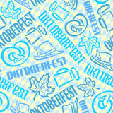 Vector background bavarian seamless pattern oktoberfest Stock Images