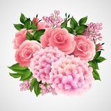 Vector background with a beautiful flower Royalty Free Stock Images