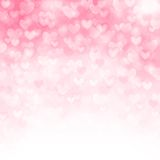 Vector background with beautiful pink hearts. This is file of EPS10 format Stock Photos