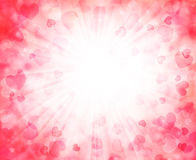 Vector background with beautiful pink hearts Royalty Free Stock Photography