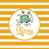 Vector background with bees for your design. Stock Photography