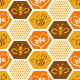 Vector background with bees for your design. Stock Image