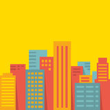 Vector background: big city Stock Photography