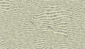 Vector background of binary numbers Stock Image