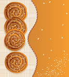 Vector background: biscuits with sesame Royalty Free Stock Photo