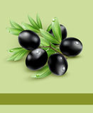 Vector background with black olives Royalty Free Stock Image