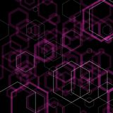 Vector background. black background with purple hexagons. polygonal style. eps 10. Vector background. black background with purple hexagons. polygonal style royalty free illustration