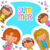 Vector background blank with kids summer camp Stock Photography