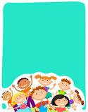 Vector background blank with kids summer camp Royalty Free Stock Photo