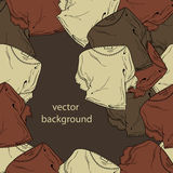Vector background with blouses Stock Photography