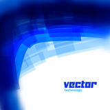 Vector background with blue blurred lines Stock Photography