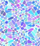 Vector background with a blue broken stained glass. Broken window Stock Photography