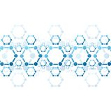 Vector background of blue molecule structure Stock Images
