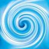 Vector background of blue swirling water funnel Royalty Free Stock Images