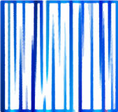 Vector background of blue vertical stripes. As though painted with paint Royalty Free Stock Photography