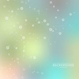 Vector background blur with a molecular structure Royalty Free Stock Photography