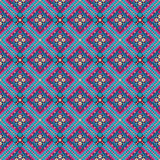 Vector background in the bohemian style of the triangles. Pink blue beige Vector Illustration