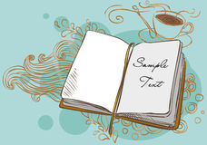 Vector background with a book. Illustration with a book in vintage style Stock Photos