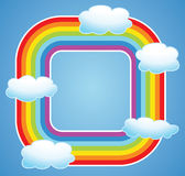 vector border of rainbow and clouds Royalty Free Stock Photos
