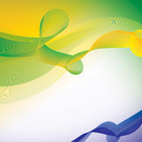 Vector background in Brazil flag color concept. Royalty Free Stock Images