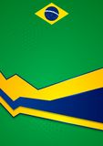Vector background in Brazilian colors Stock Photo