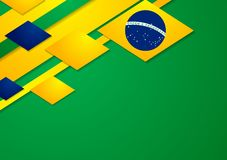 Vector background in Brazilian colors Royalty Free Stock Images