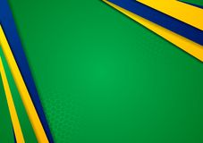 Vector background in Brazilian colors Royalty Free Stock Image