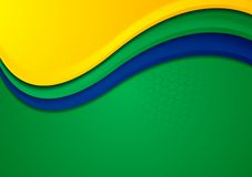 Vector background in Brazilian colors Royalty Free Stock Photo