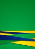 Vector background in Brazilian colors Royalty Free Stock Photos