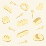 Vector background from bread Royalty Free Stock Image